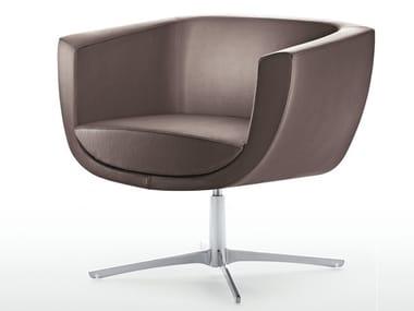 Reception chair with 4-spoke base KOPPA | Chair with 4-spoke base