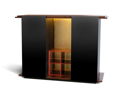 Lacquered solid wood highboard KOS 2