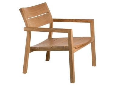 Garden teak easy chair with armrests KOS | Easy chair