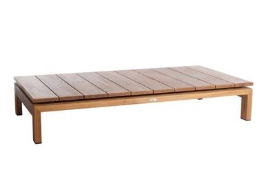 Rectangular teak garden side table KOS | Garden side table