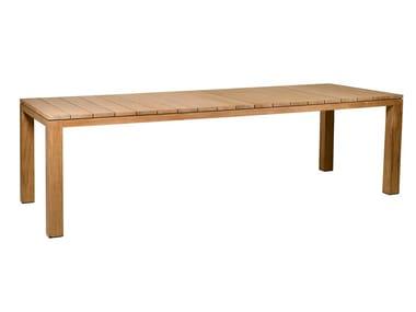 Rechteckiger Gartentisch aus Teakholz KOS | Gartentisch