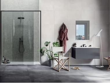 Full-body porcelain stoneware wall/floor tiles with concrete effect KOS