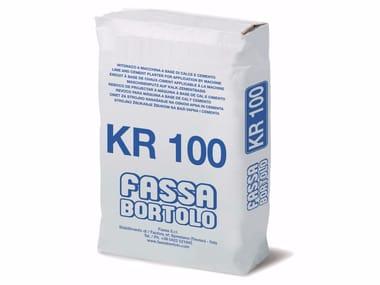 Intonaco di fondo a base di calce e cemento KR 100