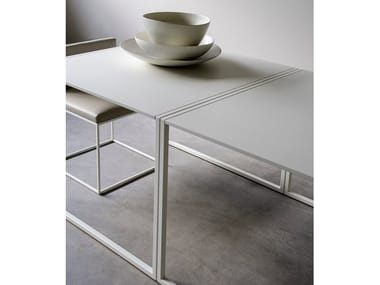 Lacquered double MDF table KRAFT
