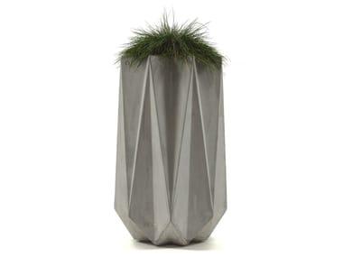Tall Fibre Concrete Planter KRONEN 90 | Cement planter