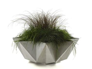 Low fiber cement planter KRONEN BOWL | Cement planter