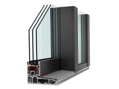 Aluminium and PVC patio door KS 430