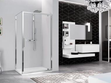 Box doccia angolare con porta a battente KUADRA 2.0 | G + F