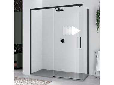 Box doccia angolare con porta scorrevole KUADRA 2.0 | 2PH + F