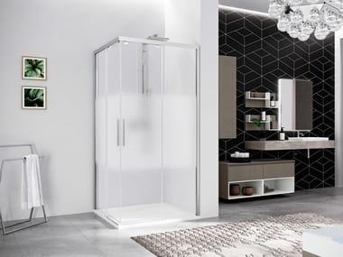 Box doccia angolare con porta scorrevole KUADRA 2.0 | AH