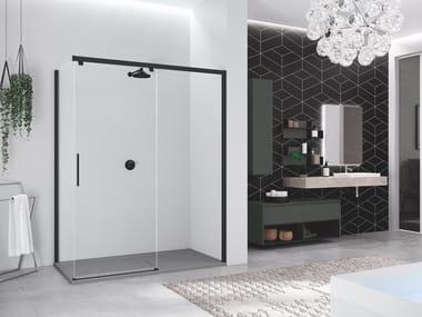 Box doccia angolare con porta scorrevole KUADRA 2.0 | PH + FH