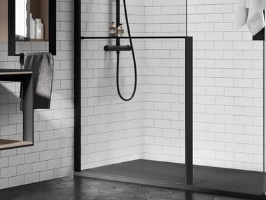 Mensola portaoggetti in alluminio per parete doccia KUADRA H FRAME | Mensola bagno