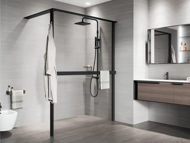 Glass tempered and aluminium shower panel KUADRA HWS FRAME