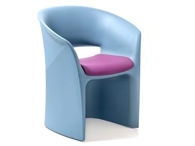 Open back polyethylene chair KUARK