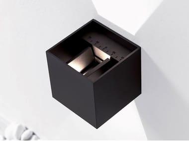 Lampada da parete per esterno a LED a luce diretta e indiretta orientabile KUBBIK