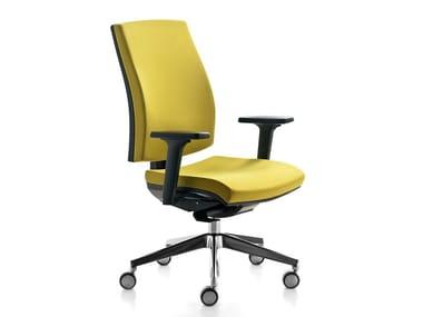 Swivel task chair with armrests KUBIKA | Task chair