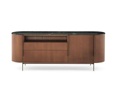 Ash sideboard with doors and drawers KUMI | Sideboard