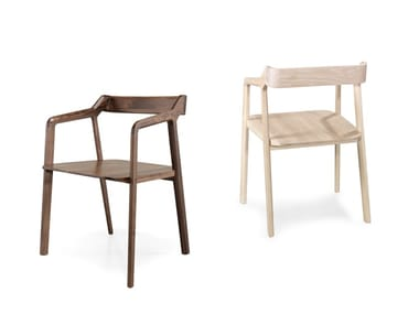 Solid wood chair with armrests KUNDERA