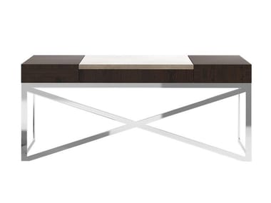 Steel and wood writing desk with drawers KUPER