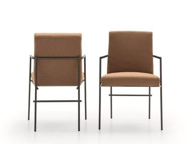 Sedia in tessuto con braccioli KYO | Sedia
