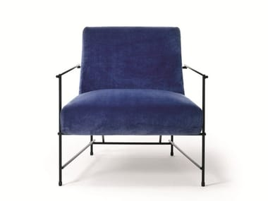 Upholstered armchair with armrests KYO | Armchair