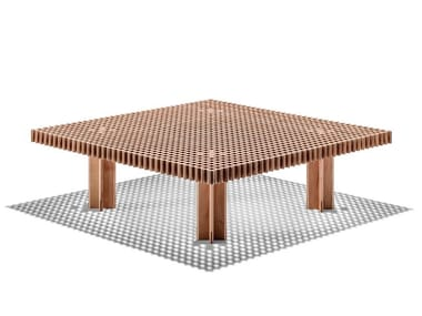 Square solid wood coffee table KYOTO | Coffee table