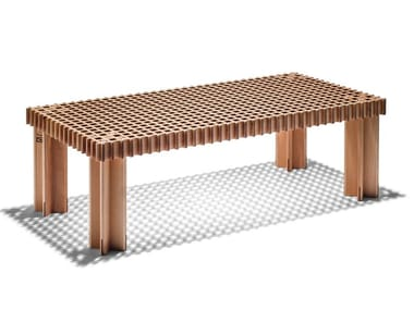 Rectangular solid wood coffee table KYOTO | Rectangular coffee table