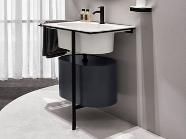Single vanity unit with doors KYROS