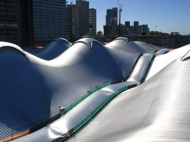 Continuous metal laminate for roof Kalzip XTail