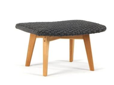 Rectangular technical fabric garden footstool KNIT | Garden footstool
