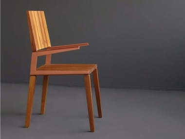 Solid wood chair with armrests L | Chair