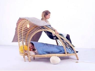 Poltrona / lettino in legno L'EMMITOUFLOIR