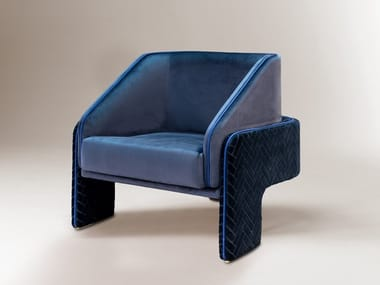 Fabric armchair with armrests L'UNITÉ