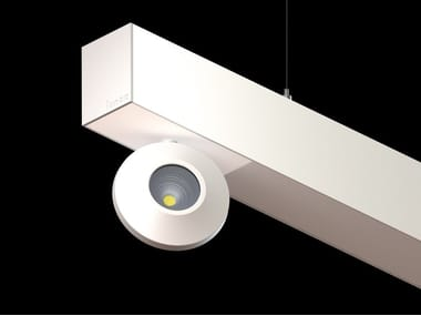 Thermo lacquered aluminium Linear lighting profile for downlights L-WAY ONIS