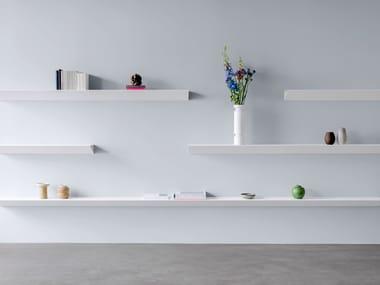 Powder coated steel wall shelf L1 NEWTON | Wall shelf