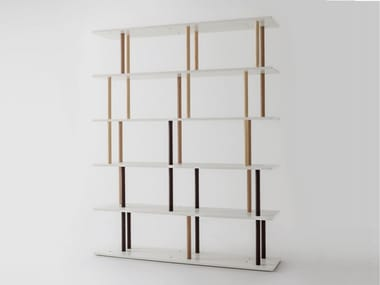 Open freestanding MDF bookcase L18