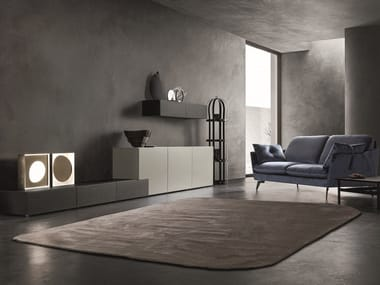 Sectional lacquered storage wall LEI | Composition L203