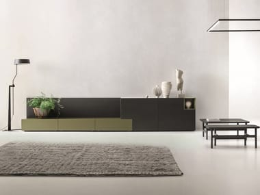 Modular lacquered sideboard LEI | Composition L205