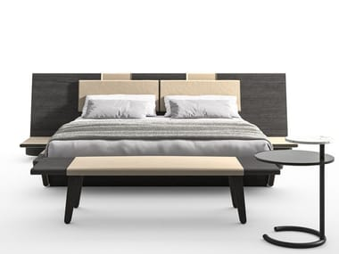 Bed with ash headboard L42 ACUTE