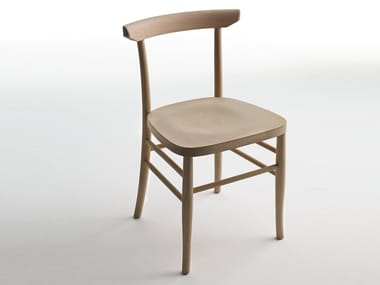 Open back wooden chair L60 | Chair