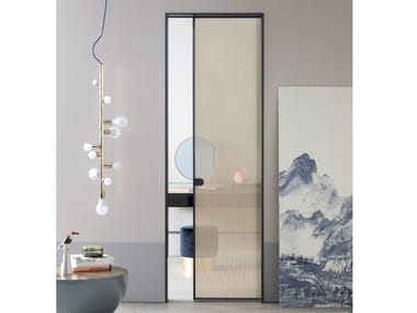 Glass and aluminium pocket sliding door L7 | Pocket sliding door