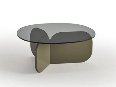 Oval glass coffee table LA ISLA | Oval coffee table