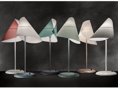 Adjustable steel and PVC table lamp LA LUNE SOUS LE CHAPEAU