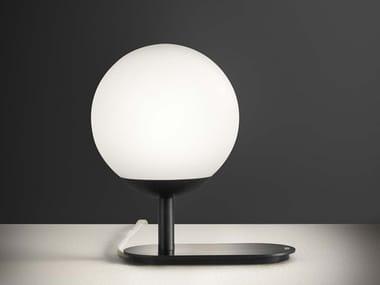 Lampe de table LED en aluminium de style contemporain pour éclairage indirect avec dimmer LA PALLINA