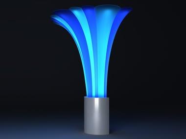 Lampada da terra per esterno a LED in polietilene LA PALMERA