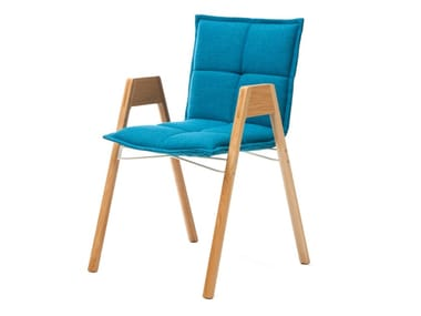 Stackable chair with armrests LAB | Chair