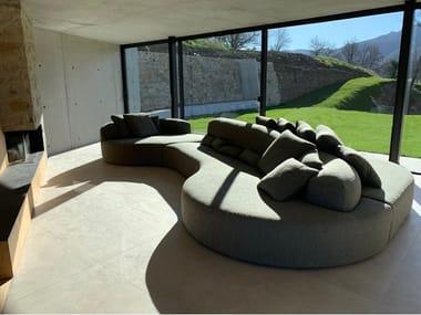 Curved fabric sofa LAB ORGANIC