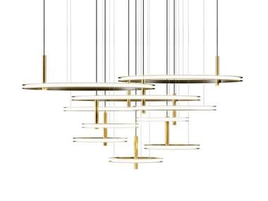 LED metal pendant lamp LABILIS