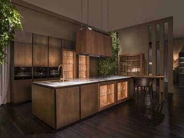 Brass fitted kitchen LABIRINTO