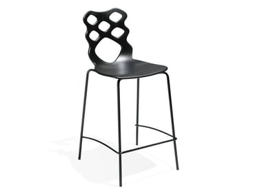 High technopolymer stool with footrest LACE | Stool